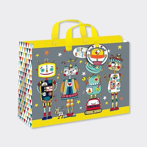 Rachel Ellen - Large 'Robots' Gift Bag