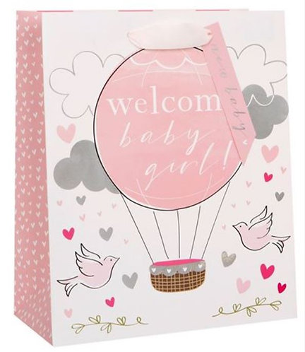 Glick - Large Welcome Baby Girl Gift Bag