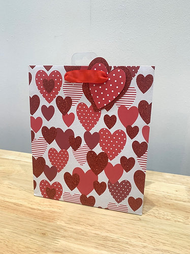 Medium Hearts Gift Bag