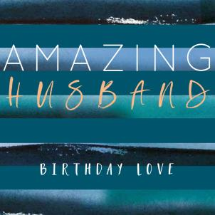 Belly Button Amazing Husband Birthday Card