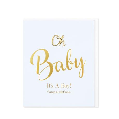 Hearts Designs Oh 'It's a Boy' Card