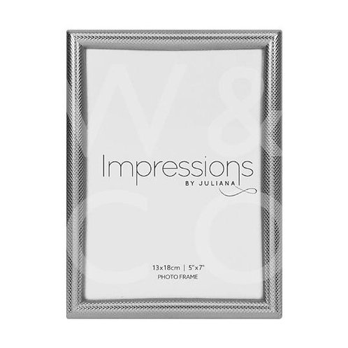 Impressions Textured Silver Finish Frame - 5x7