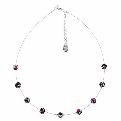 Carrie Elspeth Pink Shimmer Marbled Necklace