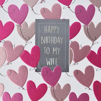 Wendy Jones-Blackett - Wife Birthday (Hearts)