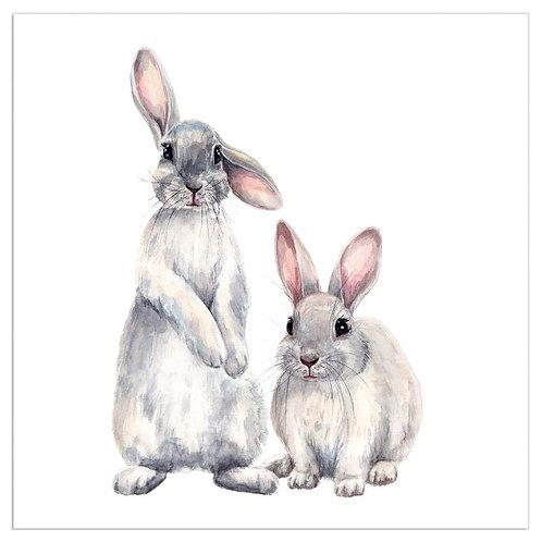 ARTEBENE White Bunny Napkins