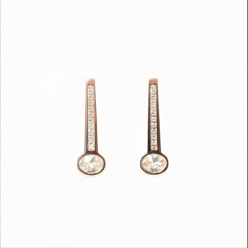 VIP - Crystal Drop Earrings (Rose Gold)