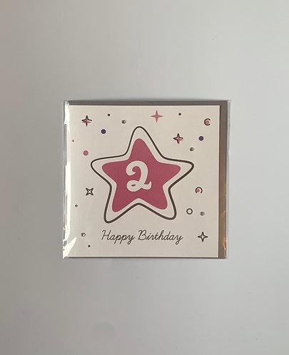 Little Robin Paper - Happy Birthday 2 (Pink)