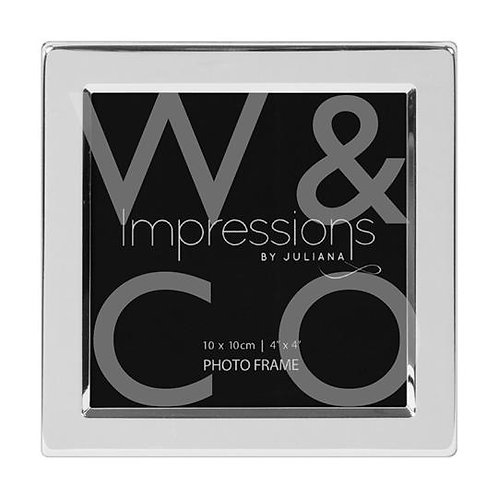 Impressions Silver Plated Flat Edge Frame - 4x4