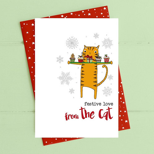 Dandelion Xmas - Festive Love From The Cat