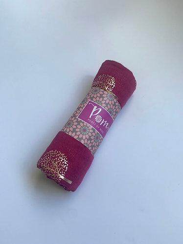POM - Magenta Scarf with Rose Gold Tree Print