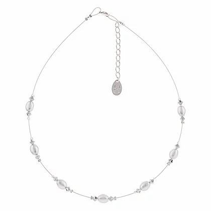 Carrie Elpseth Grey Pearl & Crystal Necklace