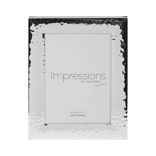Silver Plated Hammered Photo Frame - 5x7