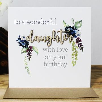 To A Wonderful Daughter with Love on Your Birthday