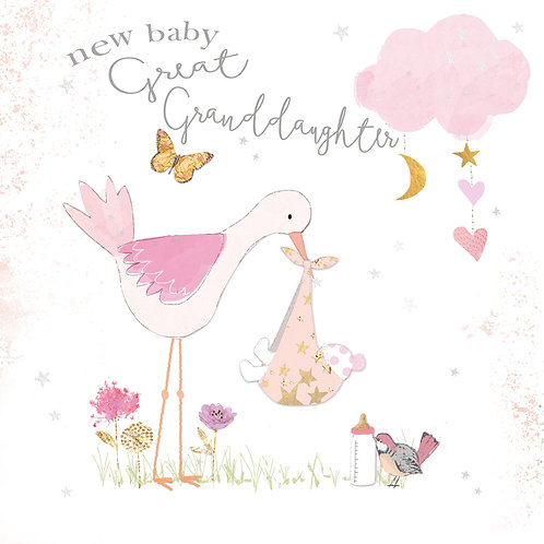 New Baby Great Granddaughter Card