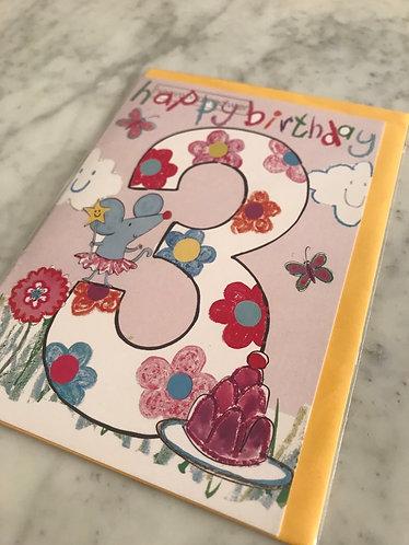Hammond Gower - Happy Birthday '3' Flowers