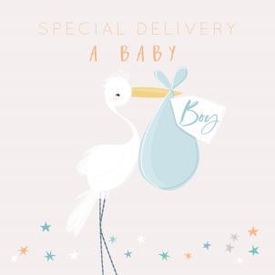 Belly Button A Baby Boy Card