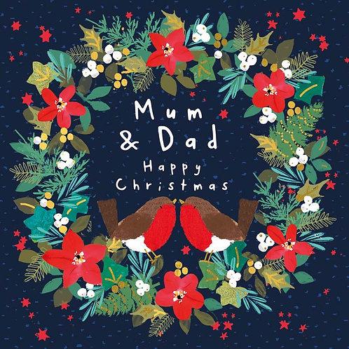 Hammond Gower Xmas - Mum & Dad (Wreath)