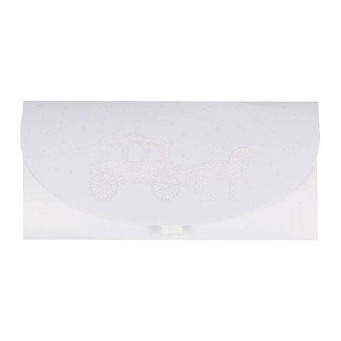 ARTEBENE White Glitter Carriage Money Wallet