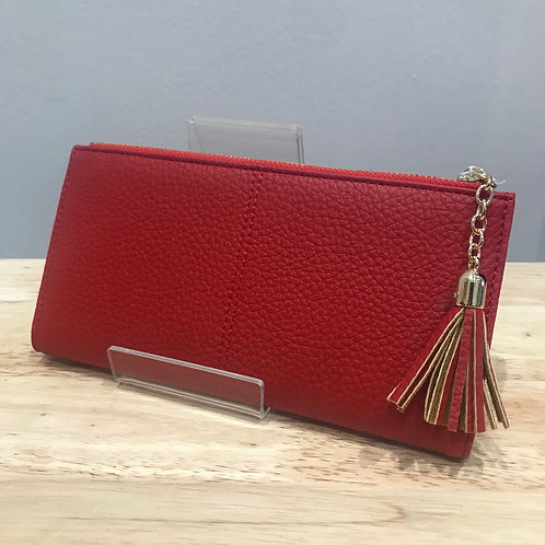 POM Large Red Wallet Purse