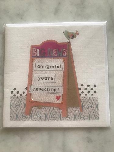Congrats you're expecting card