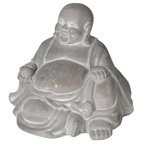 Concrete Sitting Lucky Buddha