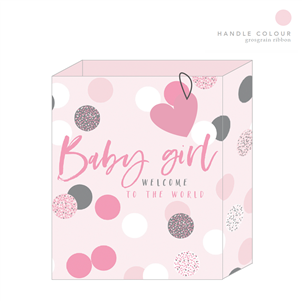 Belly Button - Large Baby Girl Gift Bag