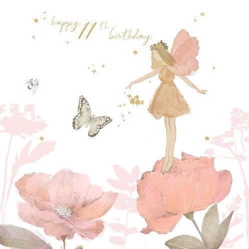 Happy 11th Birthday Fairy Card
