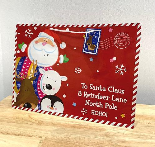 Large Santa Delivery Tote Gift Bag