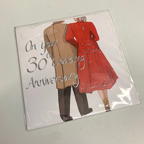 A Made Hand - 30th Wedding Anniversary (Large Card)