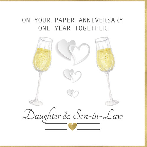 Paper Anniversary One Year Together - Daughter & Son In Law