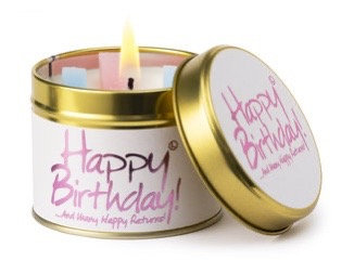 Lily Flame - Happy Birthday Candle