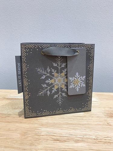 Five Dollar Shake Xmas - Glitter Snowflake Gift Bag (Small)