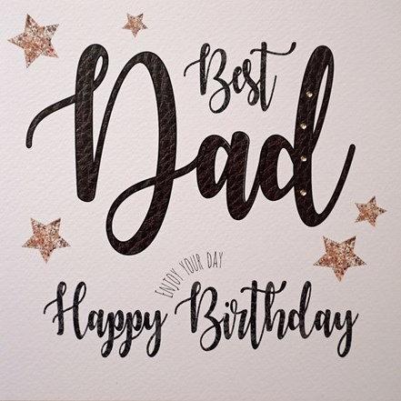 White Cotton Cards - Best Dad Birthday
