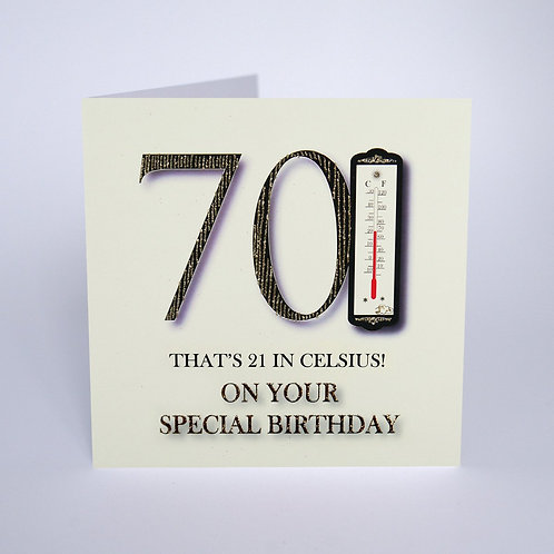 Five Dollar Shake 70 That's 21 in Celsius Card - White