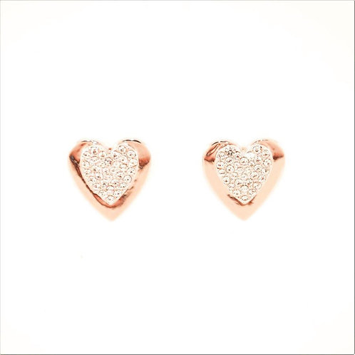 VIP - Heart Stud Earrings (Rose Gold)