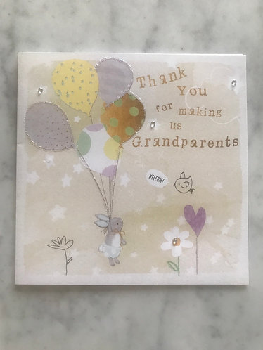 Thank You for making us Grandparents Card