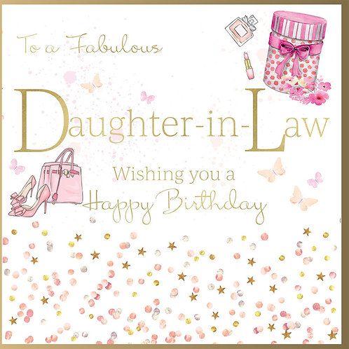 Fabulous Daughter-in-Law Birthday Card