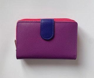 Golunski Medium Purple & Pink Tab Purse