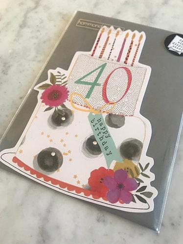 Hammond Gower - Age 40 Cake Design