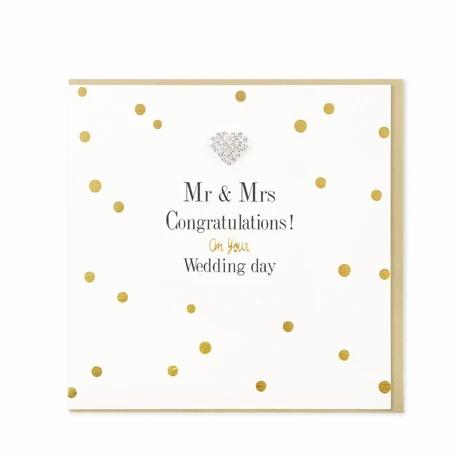 Hearts Designs - Mr & Mrs Congratulations