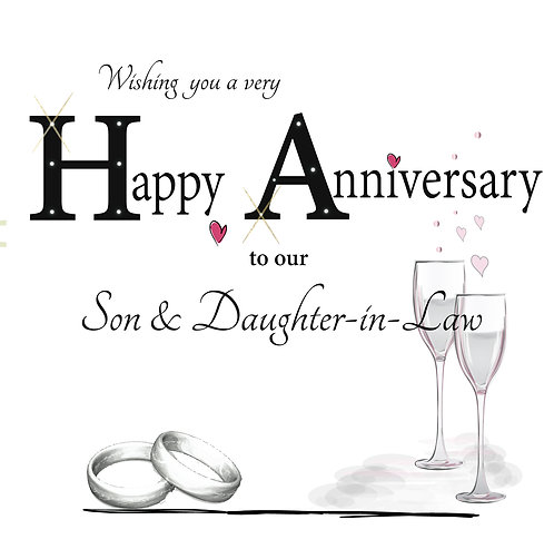 Son & Daughter -in- Law Anniversary