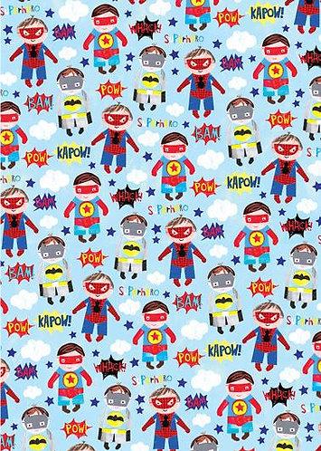 Glick - Superhero Wrapping Paper