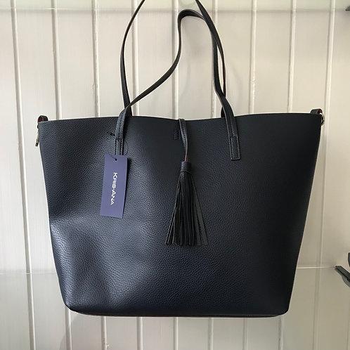 Large Navy Tote Bag
