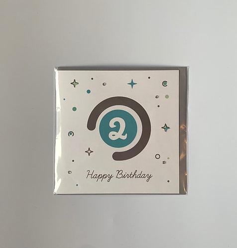 Little Robin Paper - Happy Birthday 2 (Blue)