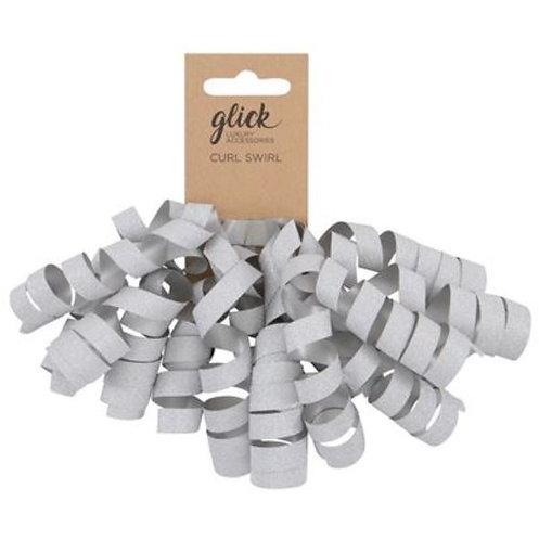 Curl Swirl Silver Glitter