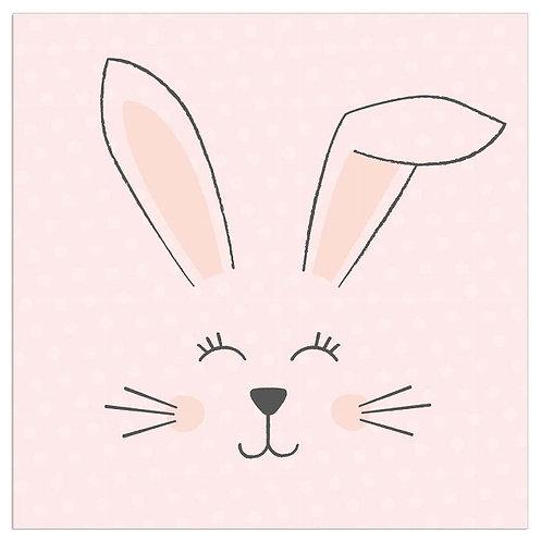 ARTEBENE Pink Bunny Napkins
