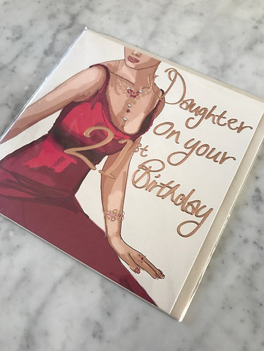 A Made Hand - Daughter on your 21st Birthday