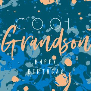 Belly Button Cool Grandson Birthday Card