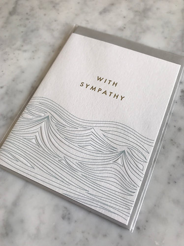 With Sympathy Waves Card