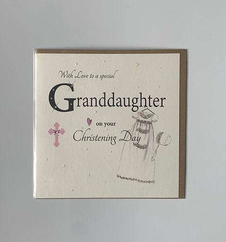 Special Granddaughter On Your Christening Day